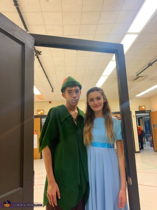 Another full length photo, Peter Pan and Wendy Costume