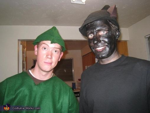 Peter Pan's Shadow Homemade Costume