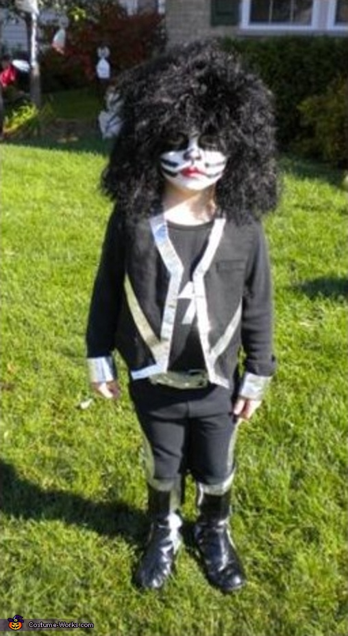 4 yr.old Aaron IS: Peter Criss, Kiss Band Costume