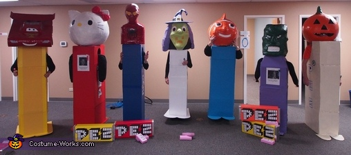 Pez Candy Group Costume