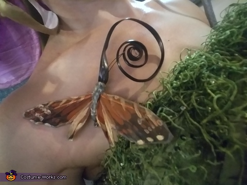 Sphinx moth detail of Orchid Costume, Phalaenopsis Orchid Costume