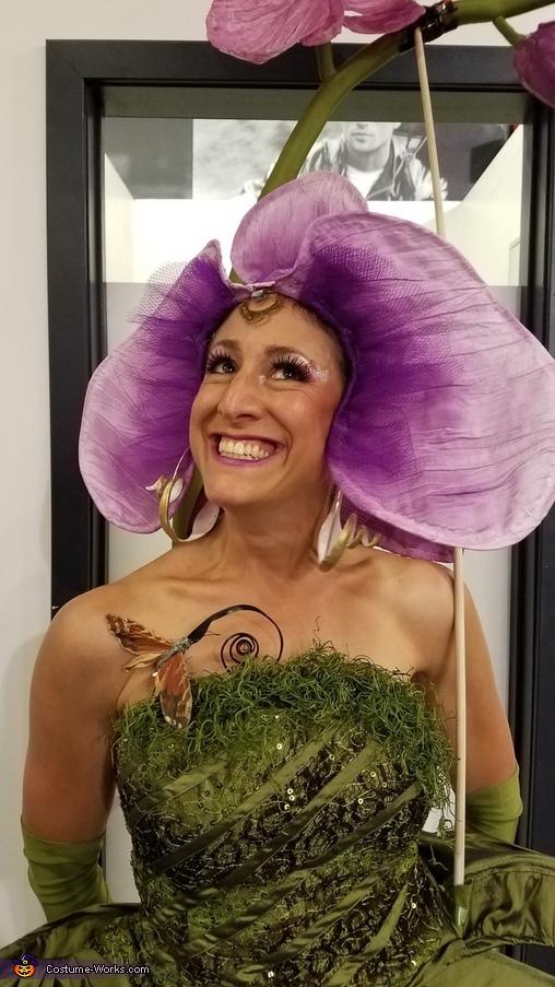 Orchid costume closeup, Phalaenopsis Orchid Costume