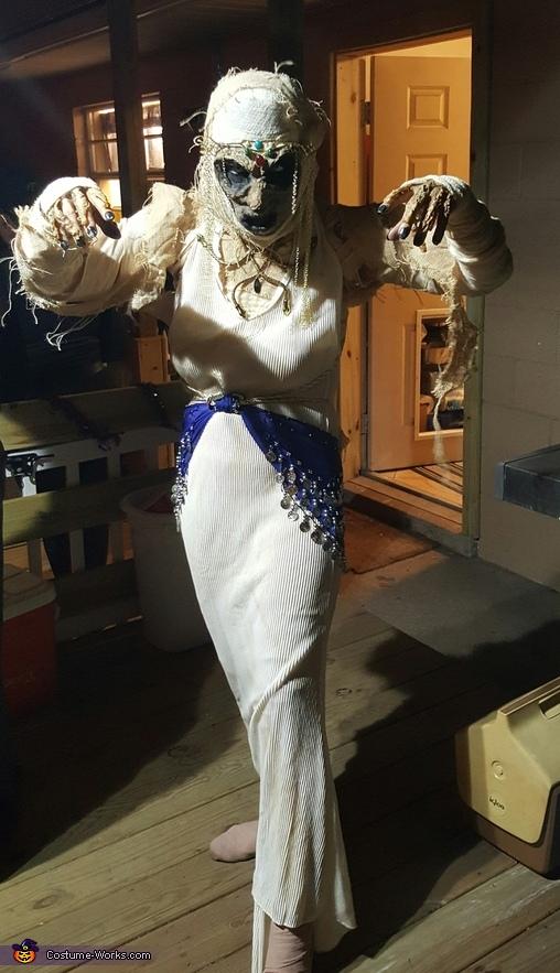 Pharaoh and Mummified Egyptian Priestess Homemade Costume