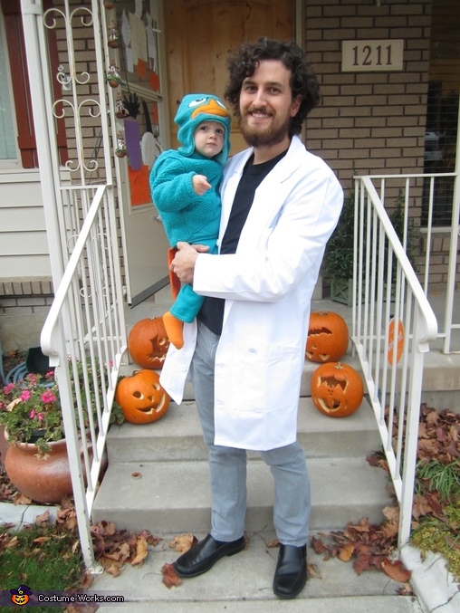 Dr. Doofenshmirtz with Perry, Phineas & Ferb Family Costume