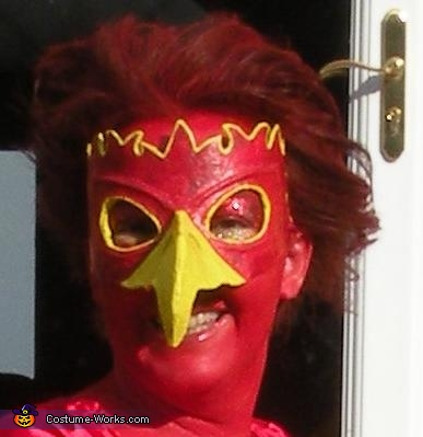 mask close up, Phoenix Costume