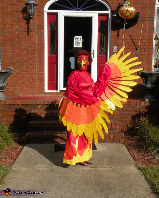 Having fun, Phoenix Costume