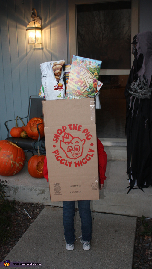 Piggly Wiggly Grocery Bag Costume For Kids Photo 2 3