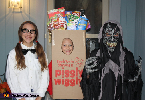 Piggly Wiggly Grocery Bag - Homemade costumes for kids