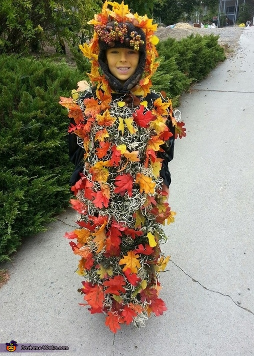 Pile of Fall Leaves Costume