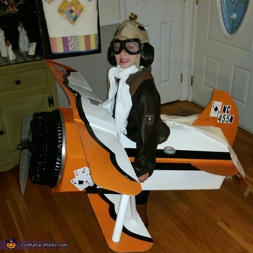 Nick and Ace, Pilot and his Biplane Costume