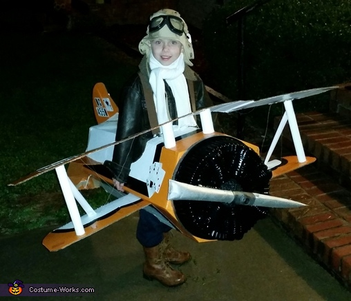 Pilot and his Biplane Costume