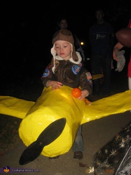 Pilot in his Plane Costume
