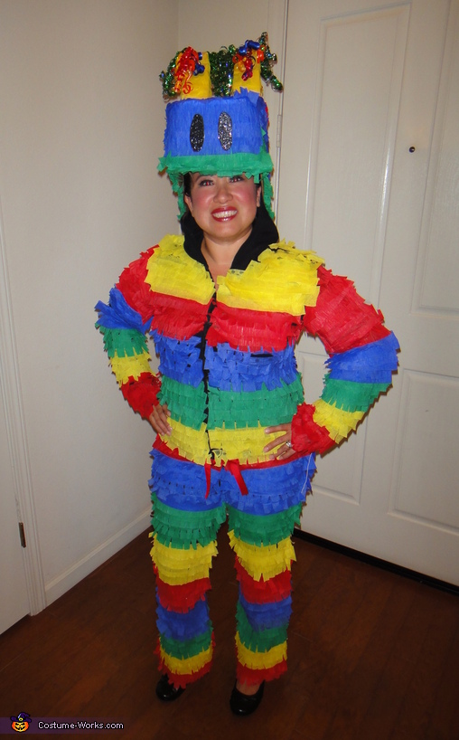 Front view of my Piñata costume, Pinata Costume