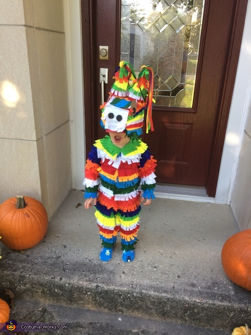 DIY Pinata Toddler Costume
