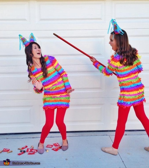 Approximately 60,000 adults will be attacked with a bat following a piñata party this year, Piñatas Costume