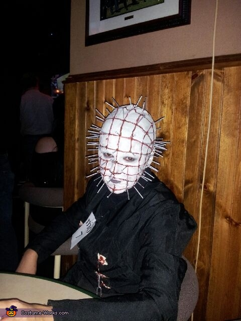 Homemade Pinhead Costume