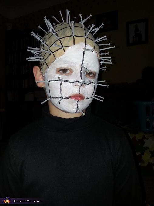 Homemade Pinhead Costume for Boys