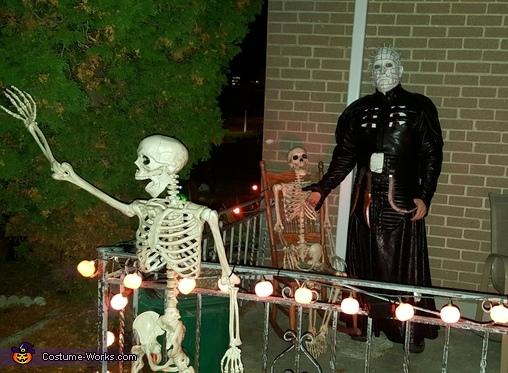 front porch, Pinhead from Hellraiser Costume