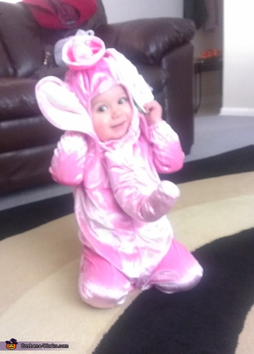 This heavy costume is giving me a headache!, Pink Elephant Baby Costume