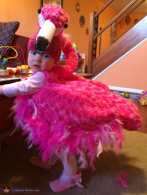 Pink Flamingo Baby Costume
