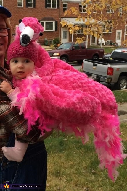 Pink Flamingo Baby Homemade Costume