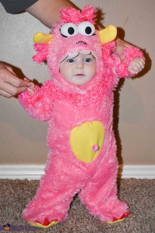 Pink Little Monster Homemade Costume