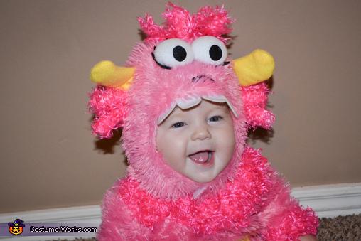 Pink Little Monster Homemade Costume