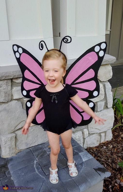 DIY Pink Monarch Butterfly Costume