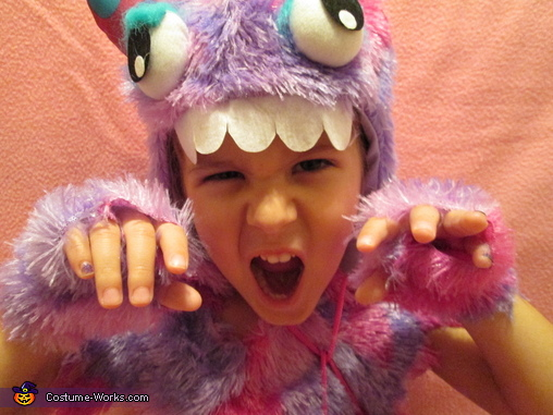 Pink Polka Dot Monster Costume