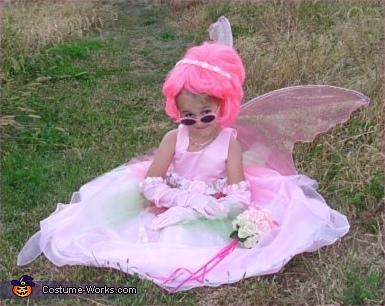 Pink Flower Princess Fairy Costume