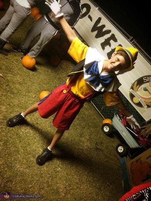 Full body Pinocchio costume., Pinocchio Costume