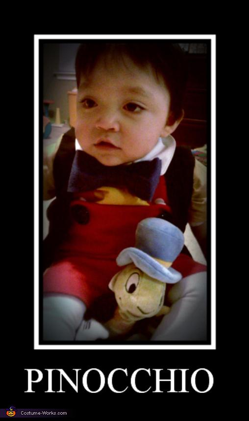 Homemade Pinocchio Baby Costume