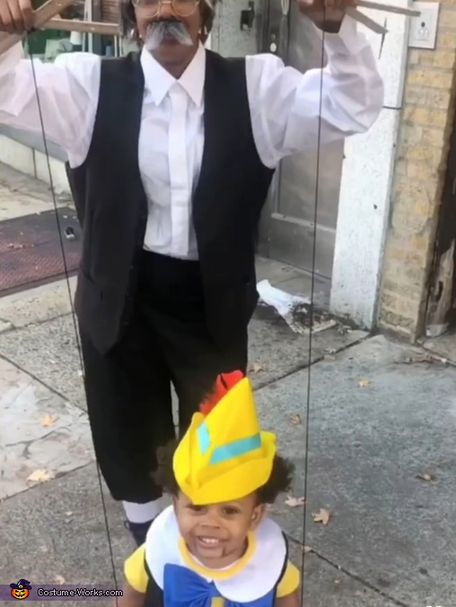 Pinocchio and Geppetto Homemade Costume