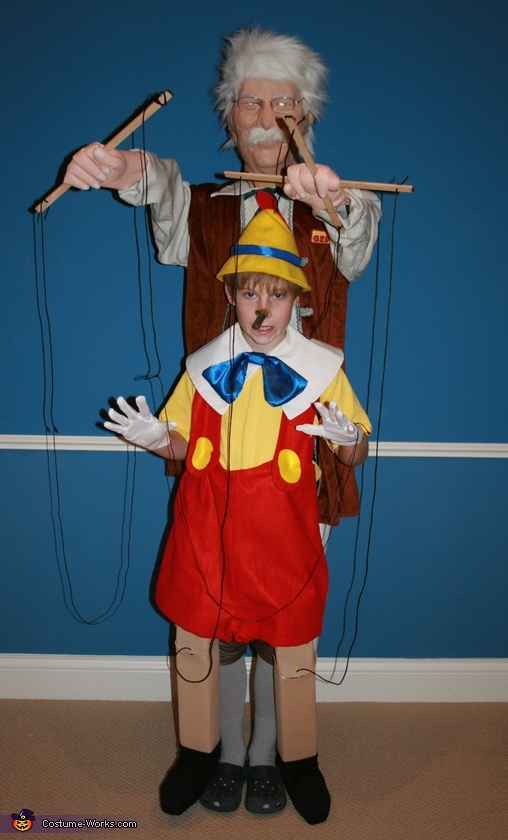Pinocchio and Gepetto - Homemade costumes for boys