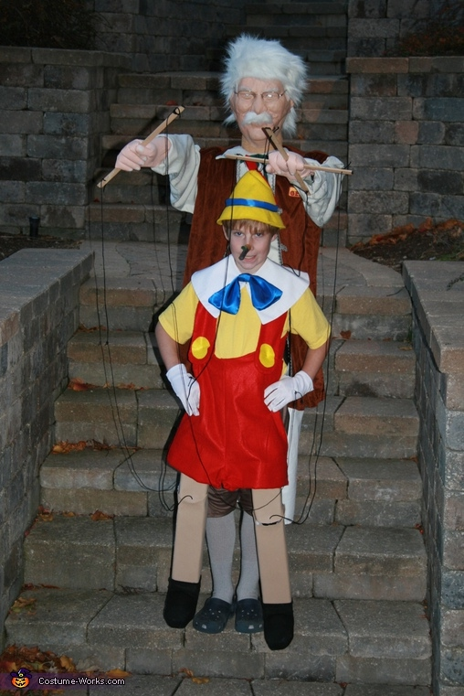 Pinocchio And Gepetto Illusion Halloween Costume Photo 2 4