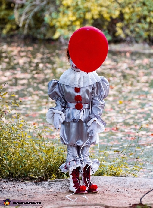 """But Bill, if you come with me, you'll float too."", Pint-sized Pennywise Costume"