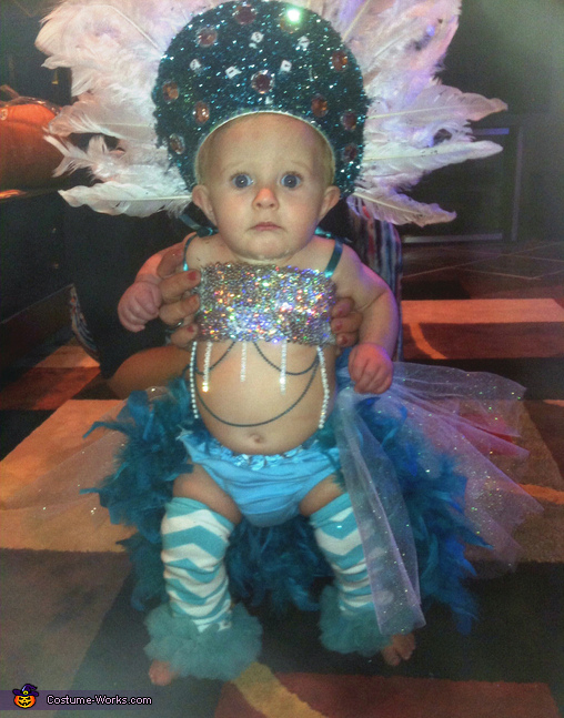 Pint Sized Las Vegas Show Girl Baby Costume