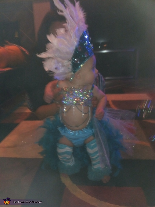 Pint Sized Las Vegas Show Girl, Pint Sized Las Vegas Show Girl Baby Costume