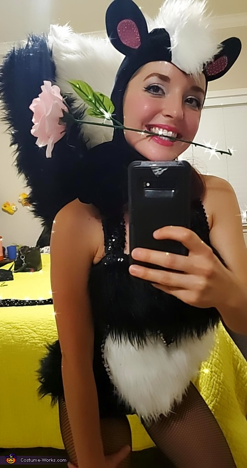 Pinup Skunk Homemade Costume