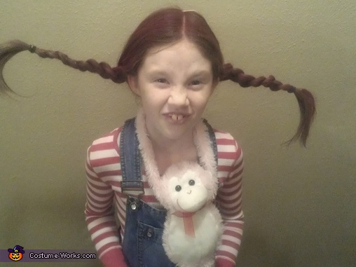 Pippy up close, Pippi Longstocking Costume