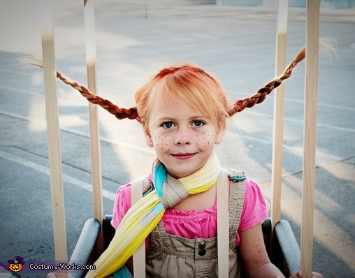 Pippi Longstocking in a Hot Air Balloon Costume