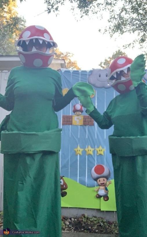Piranha Pipe Plants from Mario Homemade Costume