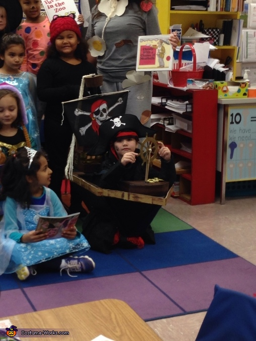 Photo-op in class, Pirate and his Ship Costume