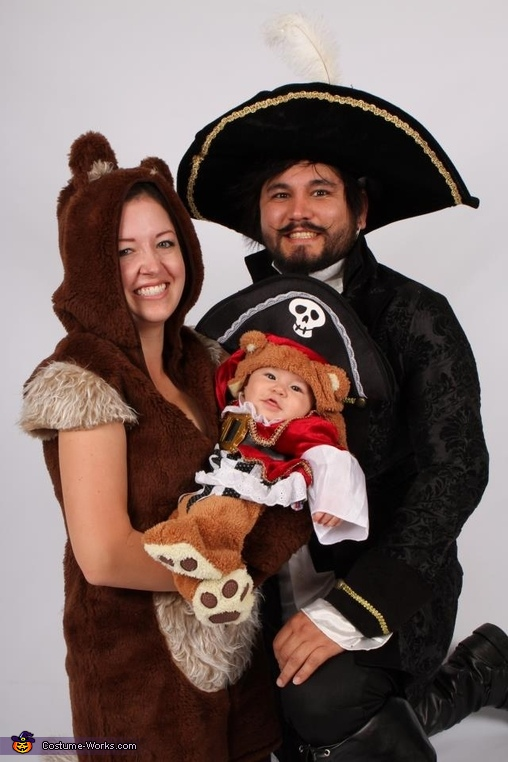 Pirate Bear Family Costume