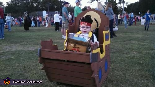Pirate in a Ship Costume