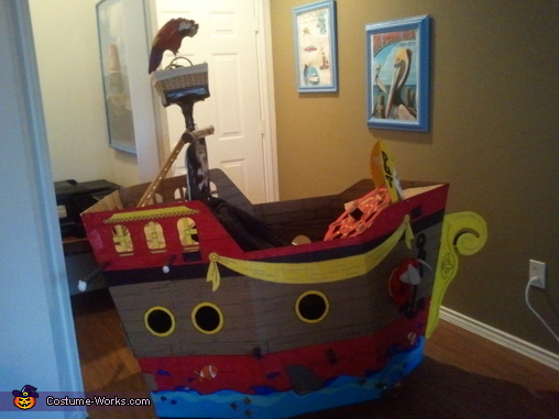 Side of Ship with Shark, Pirate Pet Rescue Costume