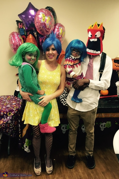 Pixar's Inside Out Family Costume