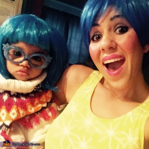 Meet 'Joy' and 'Sadness', Pixar's Inside Out Family Costume