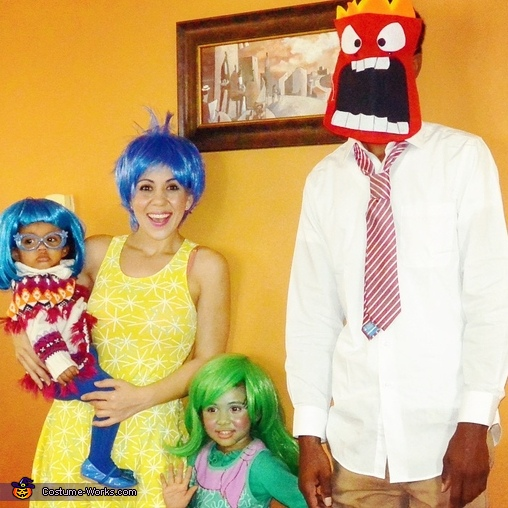 Sadness, Joy, Disgust, and Anger, Pixar's Inside Out Family Costume