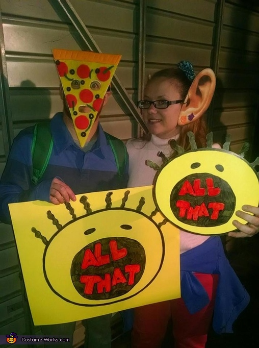 Pizza Face & Big Ear Boy Costume